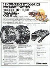 Brochure Pieghevole BF Goodrich gomme per fuoristrada 4x4 anni '80