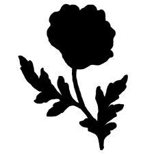 Sticker Fleur 15x11cm à 40x30cm, Tailles et Coloris Divers (FLEUR011)