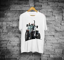 T-Shirt trattore Bianco, maglia maniche corte modello lamborghini cartoon
