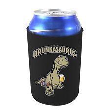 Drunkasaurus Funny Neoprene Collapsible Can Coolie, T Rex Dinosaur