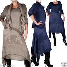 Cannes Look Hiver Maxi 3tl robe tricot tunique robe écharpe 42 44 46 48 50