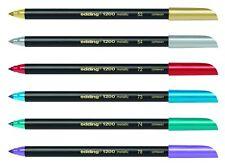 edding 1200 metallic colourpen Fasermaler Strichbreite 1 - 3mm Farben wählbar