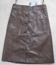Next Brown Viscose Straight Skirt (NEW) size 6-£30.00