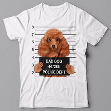 Cool T-shirt - Poodle Dog mugshot - gift for dog lovers