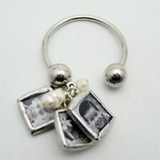 Custom mini charm keychain with your photos NEW mommy pearl jewelry personalized