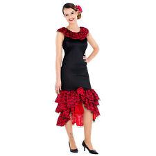 Frauenkostüm sexy Spanierin Flamenco Tänzerin Kleid Señorita Fasching Karneval