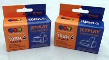2 Kodak 10B High Capacity Black Ink Cartridges KD-10BK XL compatible