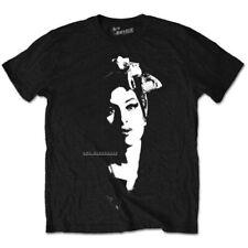UFFICIALE Amy Winehouse-Sciarpa Ritratto-Uomo Nero T-shirt