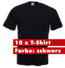 10 x Fruit of the Loom T-Shirt schwarz 195 gr. gute Qualität Arbeit