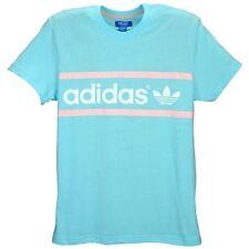 Adidas Originals Heritage Logo T-Shirt Blue Zest Men's Medium Large XL BNWT