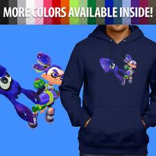 Splatoon Ink Blue Inkling Squid Boy Cool Game Pullover Sweatshirt Hoodie Sweater