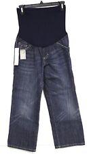 Liz Lange Jeans Target Blue Denim Crop Pant Flex Front Panel NWTS
