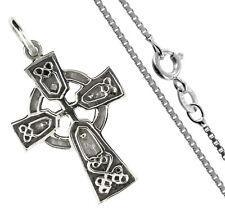 925 ECHT SILBER ✟ Kreuzkette Keltisches Kreuz Anhänger 36 mm, Kette optional