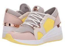 Michael Kors MK Women's Liv Trainer Mesh Sneakers Shoes Aluminum