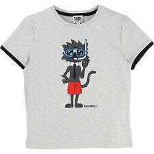 Karl lagerfeld Kids t-shirt Choupette gris 104 110 116 122 128 134 140 146 152