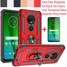 For Motorola Moto E5 E6 G6 G7 G8 Plus/Power/Play Armor Ring Stand TPU Case Cover