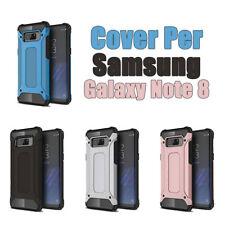 Cover custodia case bumper per Samsung Galaxy Note 8 Silicone TPU+PC Vari colori
