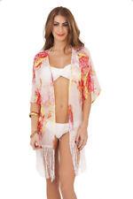 Womens Kaftan Tunic Top Cover Up Waistcoat Beachwear Cardigan Ladies Size 8 - 14
