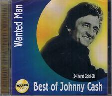 Cash, Johnny Wanted Man (Best of) Zounds 24 Karat Gold CD Neu OVP Sealed