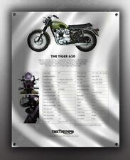 VINTAGE TRIUMPH TIGER 650 MOTORCYCLE BANNER