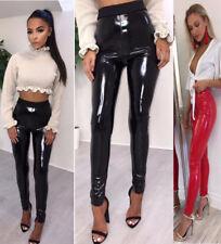66173d2a275c78 New Women Ladies Vinyl Pvc Wet Look Shinny Elasticated Leggings Leggings  Pants