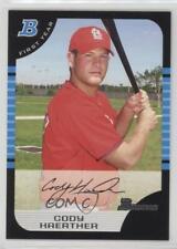 2005 Bowman #212 Cody Haerther St. Louis Cardinals Rc Rookie Baseball Card