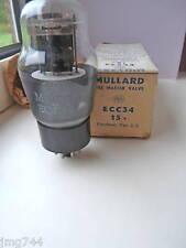 ECC34  MULLARD BLACK PLATE PAN GETTER  TUBE VALVE 1