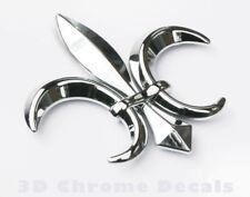 Fleur De Lis, car auto bike 3D chrome Emblem decal sticker Quebec France