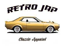 TOYOTA CELICA GT GEN1 COUPE t-shirt. RETRO JAP. CLASSIC CAR. MODIFIED. JDM.