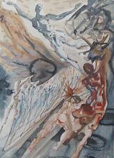 Salvador Dali The Divine Comedy Purgatory #26 Woodblock Art Print, Make Offer!