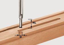 FESTOOL Vollhartmetall Nutfräser HW mit Grundschneide 8mm Schaft ⌀ 3 - 8mm