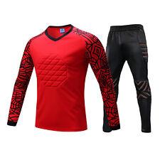 Kid Adult Sport Soccer Football Goalkeeper Goalie Padded Chest Pants Jersey Top