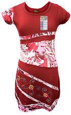 Fait main coton hippie naturel Boho Rétro Coton Katmandou lumière d'été robe