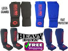 HEXA PRO Shin Instep Protectors Foot legs Guards Pads kick Boxing MMA Muay Thai