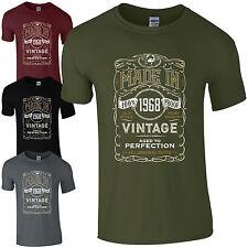 MADE in 1968 T-Shirt Born 50th ANNO COMPLEANNO età attuale vintage divertente Uomo Regalo