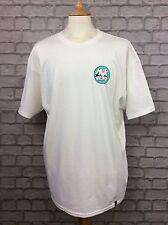 HUF ritmo para Hombre Blancas Camiseta Camiseta Top Camiseta de manga corta de Skate RRP £ 35