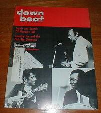 DOWN BEAT mag 9/5/68 NEWPORT JAZZ FEST Country Joe VG++