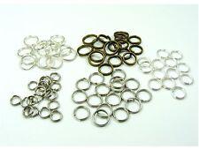 100 x Double Loop SPLIT Open JUMP RINGS Connector Findings  ~ 4mm - 12mm ~