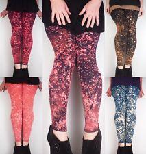 Mano teñida Leggings de galaxia/meggings Suave Elastizado Pantalones de yoga NUEVO por Lona desnudo