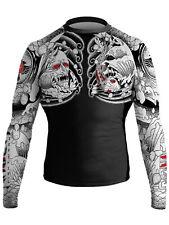 Raven Fightwear Men's Irezumi 1.0 Rash Guard MMA BJJ Black