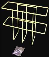 """25 White Msds 4"""" Rtk Binder Rack, wall mountable"""