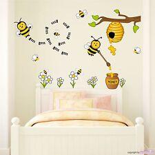 WANDTATTOO Honigbienen Bienen Blumen Honig Baum Wandsticker Wandaufkleber
