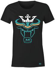 """""""CROWN BULL"""" Women/Juniors T-Shirt to Match Air Retro 3 """"RIO TEAL"""" GS"""