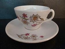 belle tasse et sous tasse ancienne en faience de luneville