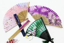 Women Hand Held Silk Folding Fans, Chinese/Japanese Vintage Retro Style Fan