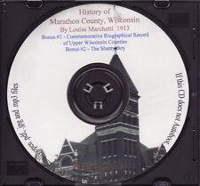 History of Marathon County Wisconsin + Bonus Books