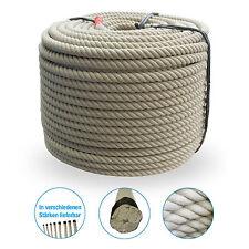 Grevinga® Polyfaser - Polypropylen - Spinnfaser Seil - 4-schäftig Ø 20 - 30 mm