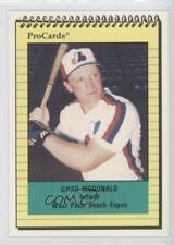 1991 ProCards Minor League #1237 Chad McDonald West Palm Beach Expos Rookie Card