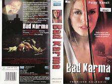 Bad Karma (2001) VHS