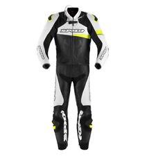 Tuta Suit Traje Anzug pelle RACE WARRIOR TOURING SPIDI Blu Giallo UOMO moto